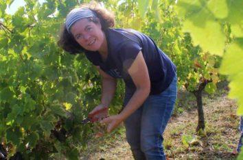 Isabelle Suire Vigneronne en vendange